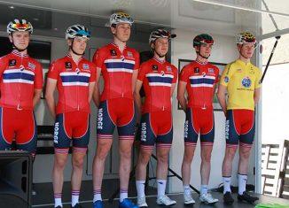 Norwegische Team beim Tour du Pays du Vaud