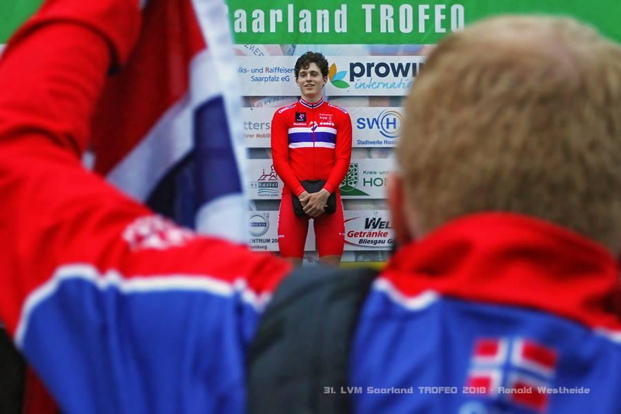 Der Sieger des Einzelzeitfahrens Ludvig Fischer Aasheim